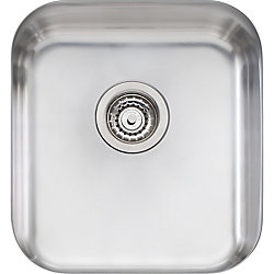 Wessan Stainless Steel Single Bowl Undermount Sink - 16 inch x 17.75 inch x 8 inch