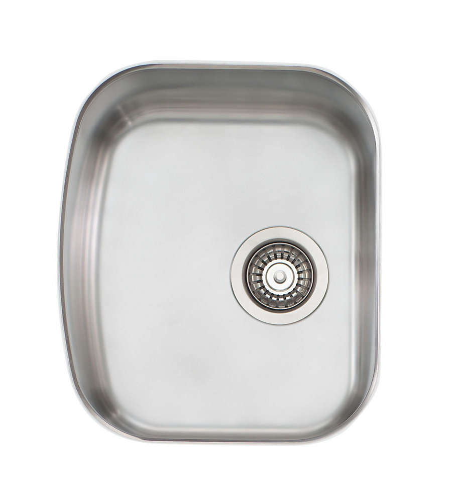 Stainless Steel Single Bowl Undermount Sink - 15 inch x 17.75 inch x 8 inch
