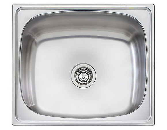 Wessan Stainless Steel Single Bowl Universal Mount Laundry Sink 24 75 Inch X 21 75 Inch X 12 5 Inch The Home Depot Canada