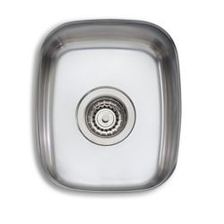 Wessan Stainless Steel Single Bowl Undermount Sink - 13.75 inch x 11.38 inch x 6.5 inch