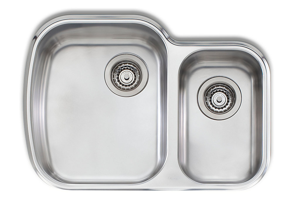 Stainless Steel One And Three Quarters Undermount 27 63 Inch X 19 75 Inch X 8 Inch 6 Inch