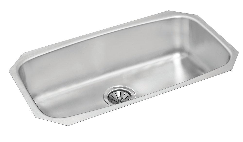 Stainless Steel Single Bowl Undermount Sink - 18 inch x 12 inch 8 inch