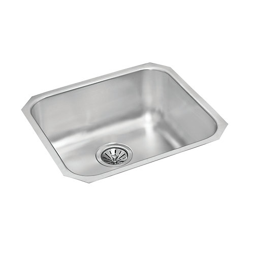 Stainless Steel Single Bowl Undermount Sink - 18 inch x 20 inch x 9 inch