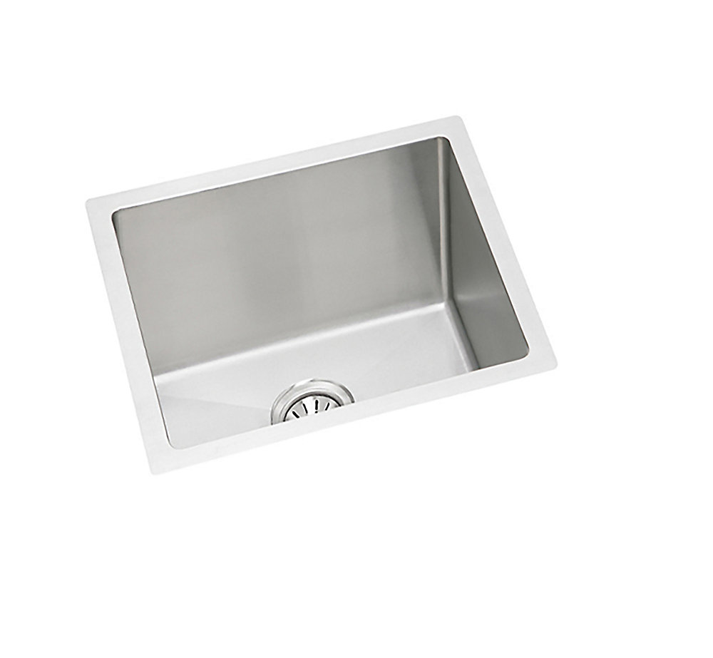 Stainless Steel Hand-Fabricated Single Bowl Undermount Sink - 17 inch x 17 inch x 8 inch