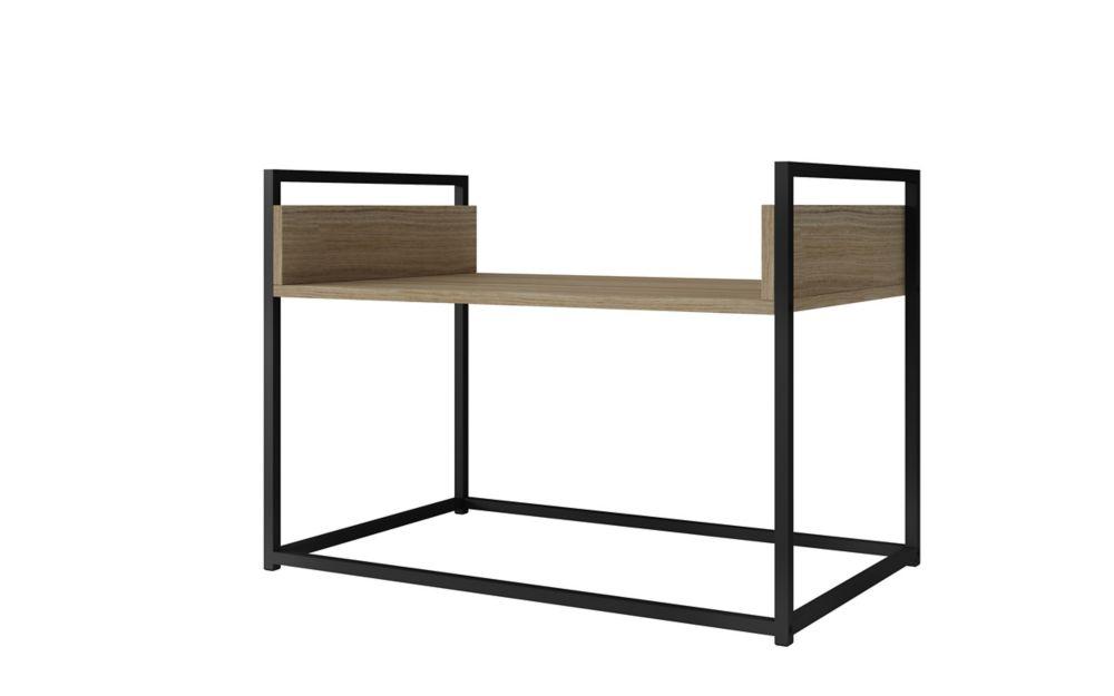 """Manhattan Comfort Ellis 27.76"""" Coffee Table in Dark Oak and Black"""