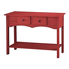 Jay 49,21 pouce Buffet avec 2 tiroirs complets en rouge