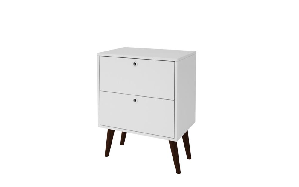 Accentuations by Manhattan Comfort Taby 2- Drawer Nightstand in White
