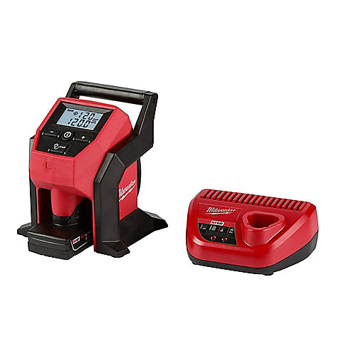 M12 12V Lithium-Ion Cordless Compact Inflator Kit W/ 4.0Ah Battery & Charger