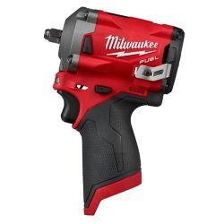 Milwaukee Tool M12 FUEL 12V Lithium-Ion Brushless Cordless Stubby 3/8-Inch Impact Wrench (Tool-Only)