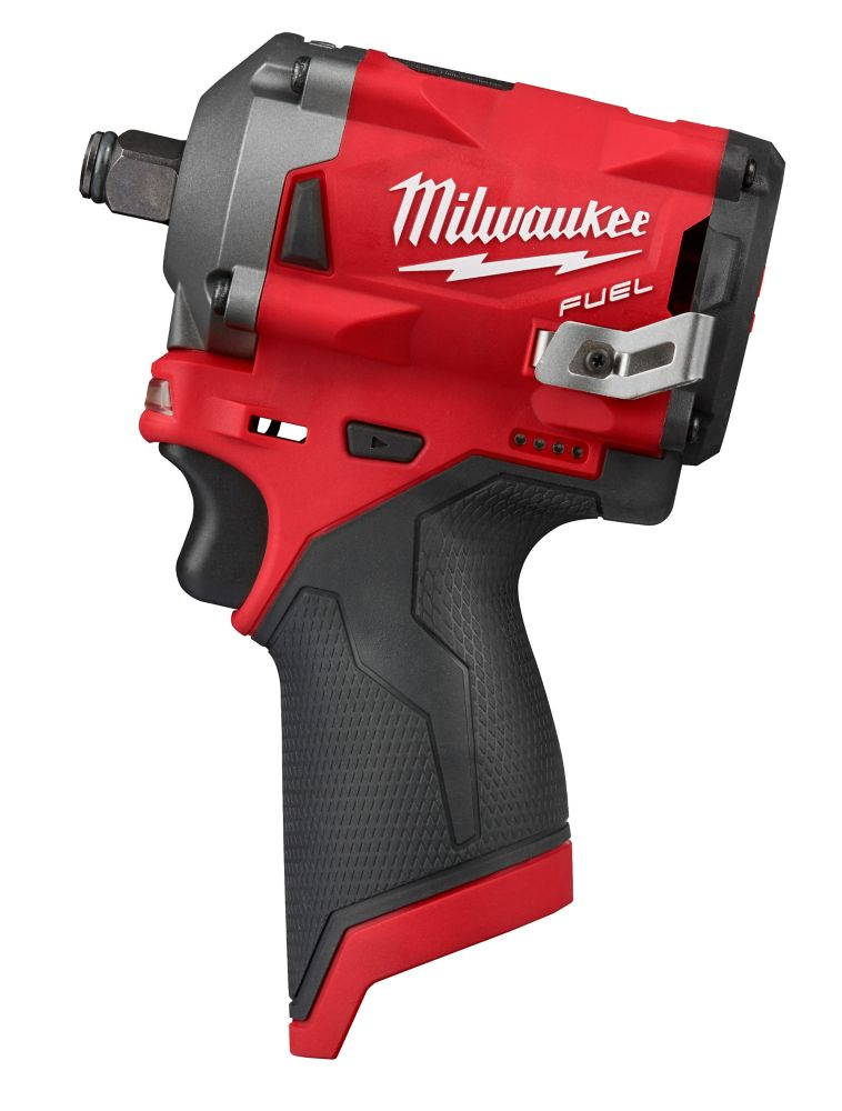 Milwaukee Tool M12 FUEL 12V Lithium-Ion Brushless Cordless Stubby 1/2-Inch Impact Wrench (Tool-Only) 2555-20