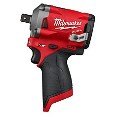 M12 FUEL 12V Lithium-Ion Brushless Cordless Stubby 1/2-Inch Impact Wrench w/ Pin Detent (Tool Only)