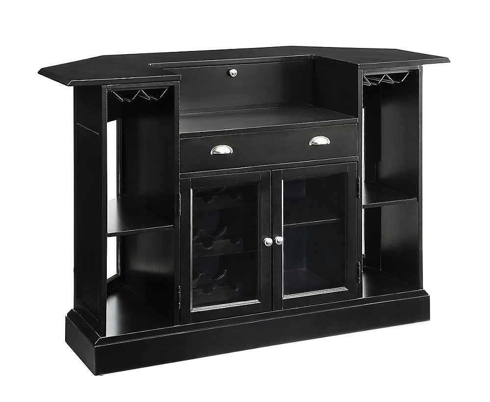 Coaster Company Of America Bar Unit With Tempered Glass In Black 2