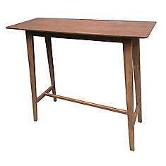 Liam Rectangle Bar Table-in Walnut