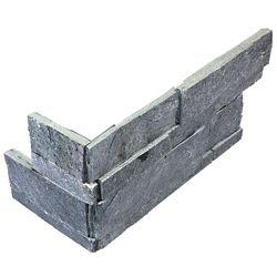 Enigma Astro Silver  6-inch x 18-inch Ledger Stone Assembled Corner Tile (6 pieces / case)