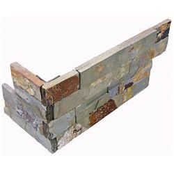 Enigma Dorada 6-inch x 18-inch  Ledger Stone Assembled Corner Tile (6 pieces / case)