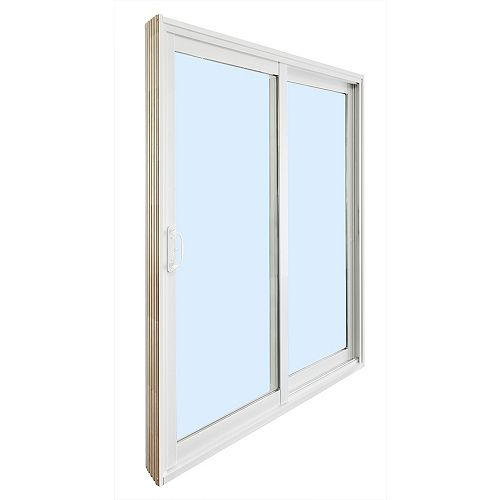 STANLEY Doors 5 ft. Reversible Ready to Assemble Patio Door Kit with Wood Cladded Frame