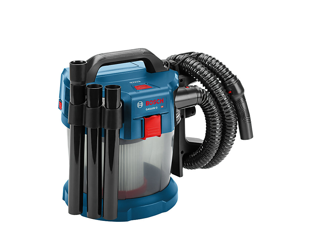 Bosch 18v 2 6 Gallon Wet Dry Vacuum Cleaner With Hepa
