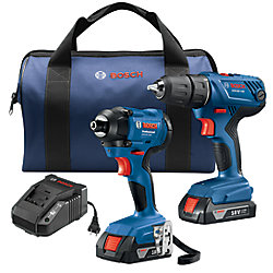 Bosch 18V 2-Tool Combo Kit with 1/2-inch Compact Drill/Driver & 1/4-inch Hex Impact Driver