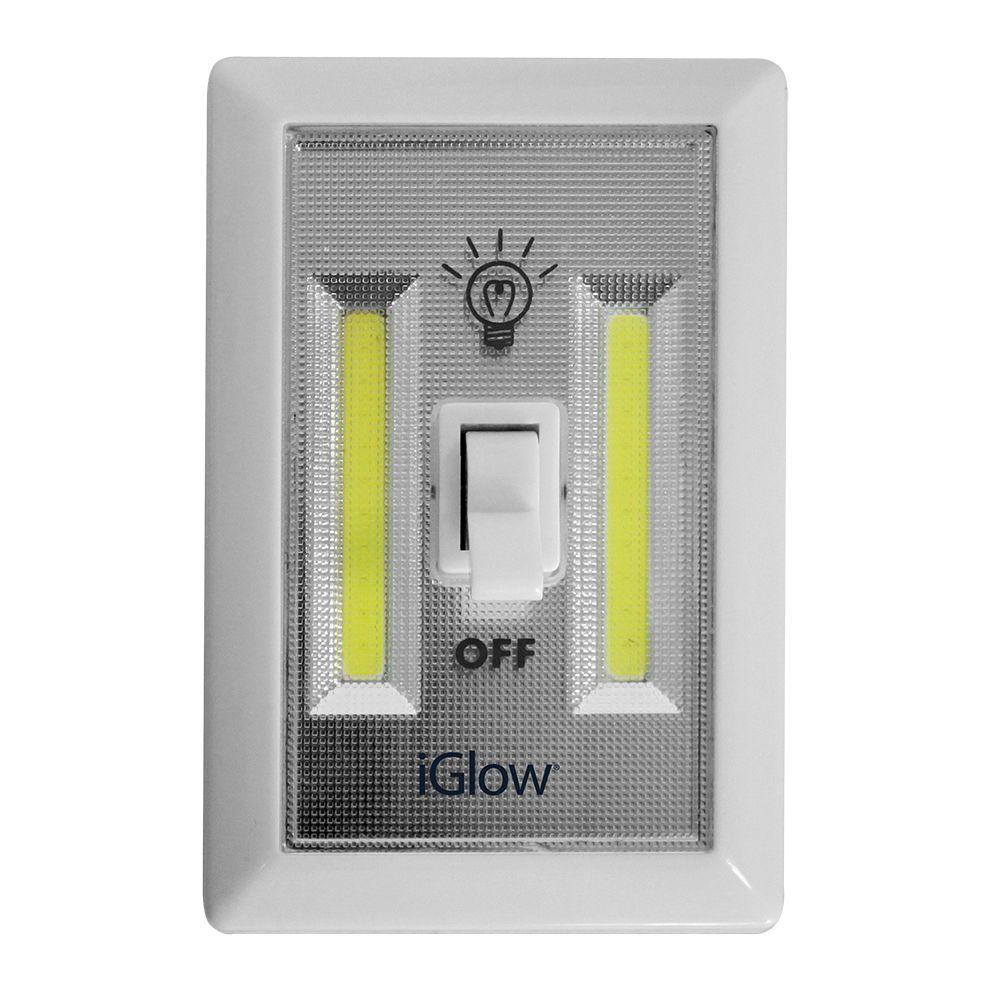 iGlow iGlow 2 Pack Switch Night Light With COB Technology
