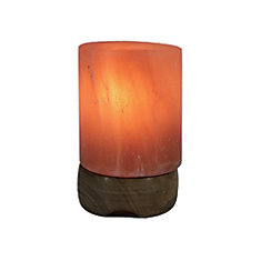 Small Himalayan Salt Lamp Sculpted in Pillar Shape