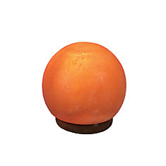Medium Himalayan Salt Lamp Sculpted in Sphere Shape