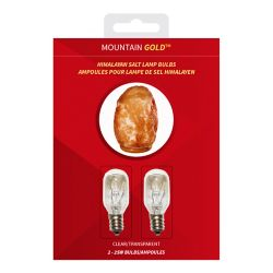 Mountain Gold Blister Pack of 2 Clear 25W Bulbs