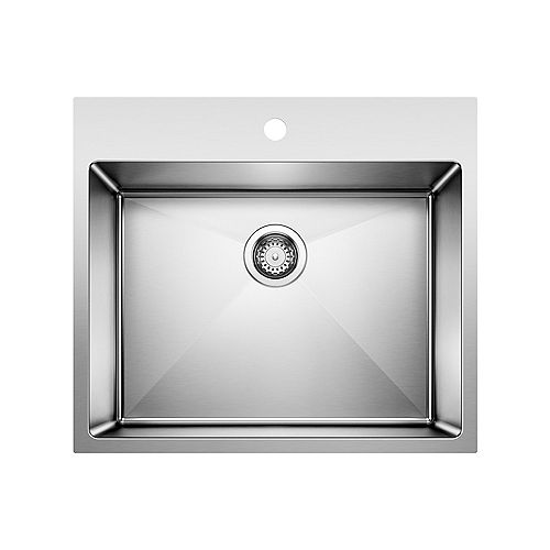Blanco QUATRUS R15 LAUNDRY, Single Bowl Undermount or Drop-in (Dual-mount) Sink, Stainless Steel