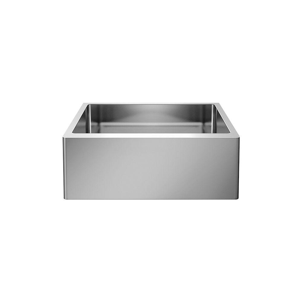Blanco QUATRUS R15 U 1 MEDIUM APRON Front Undermount Kitchen Sink, Single Bowl - Stainless Steel