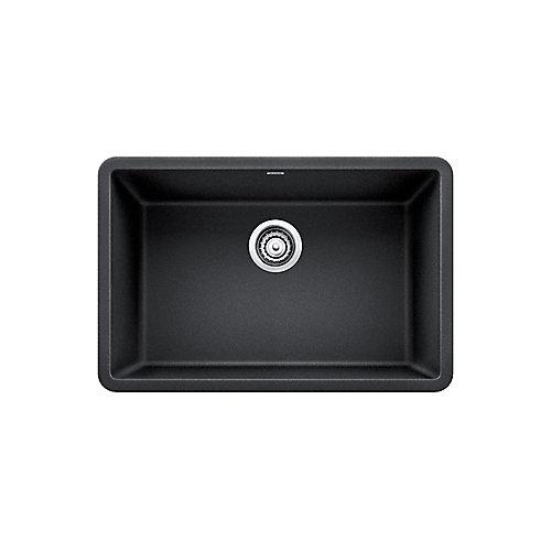 PRECIS U SINGLE 27, Single Bowl Undermount Kitchen Sink - Anthracite SILGRANIT Granite Composite