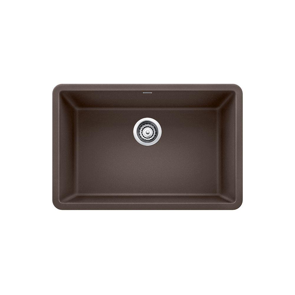 Blanco Brown: Blanco PRECIS U SINGLE 27, Single Bowl Undermount Kitchen