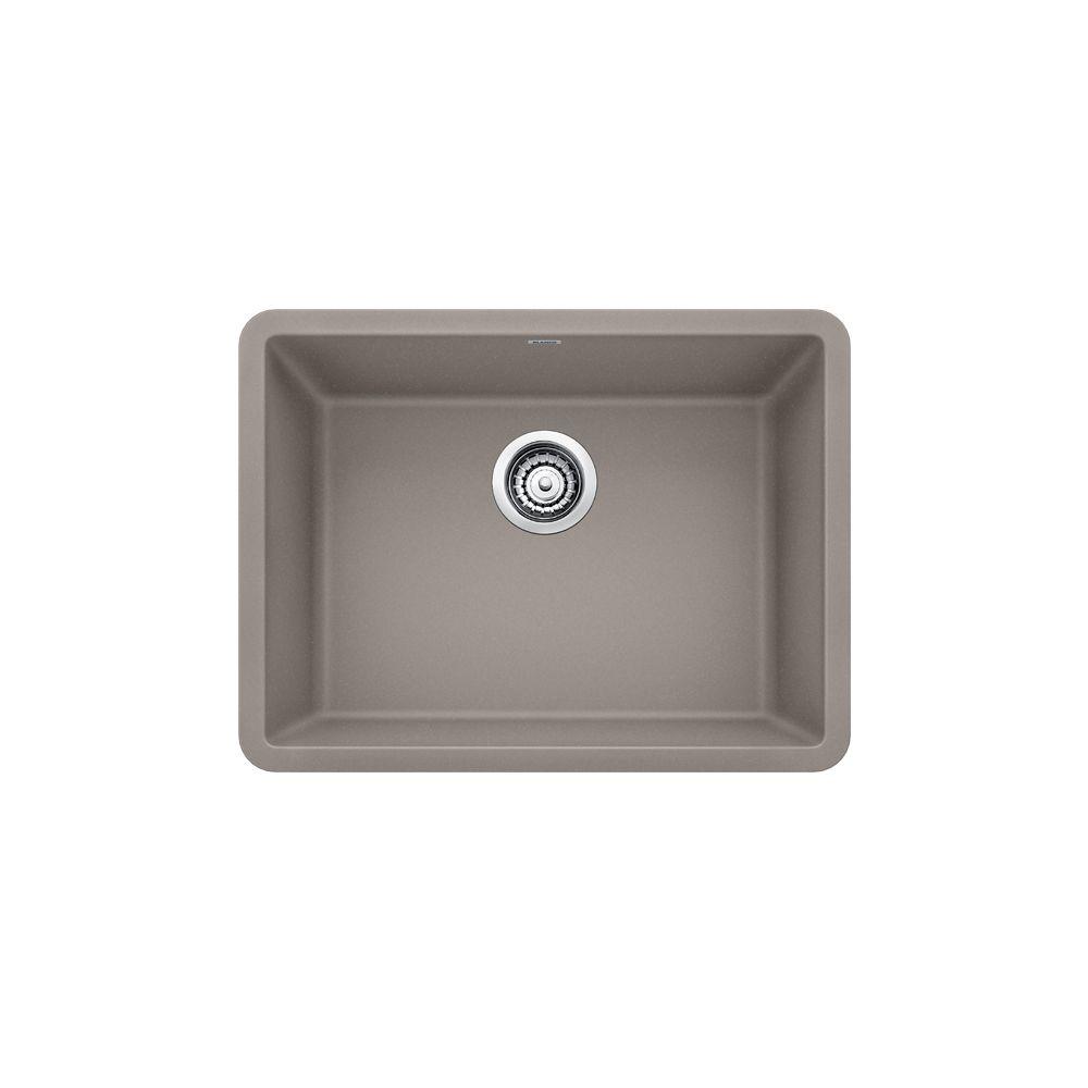 Blanco PRECIS U SINGLE 24, Single Bowl Undermount Kitchen Sink - Truffle SILGRANIT Granite Composite