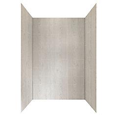 48-inch X 32-inch Shower Wall System In Driftwood Grey