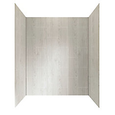 60-inch X 32-inch Shower Wall System In Driftwood Grey