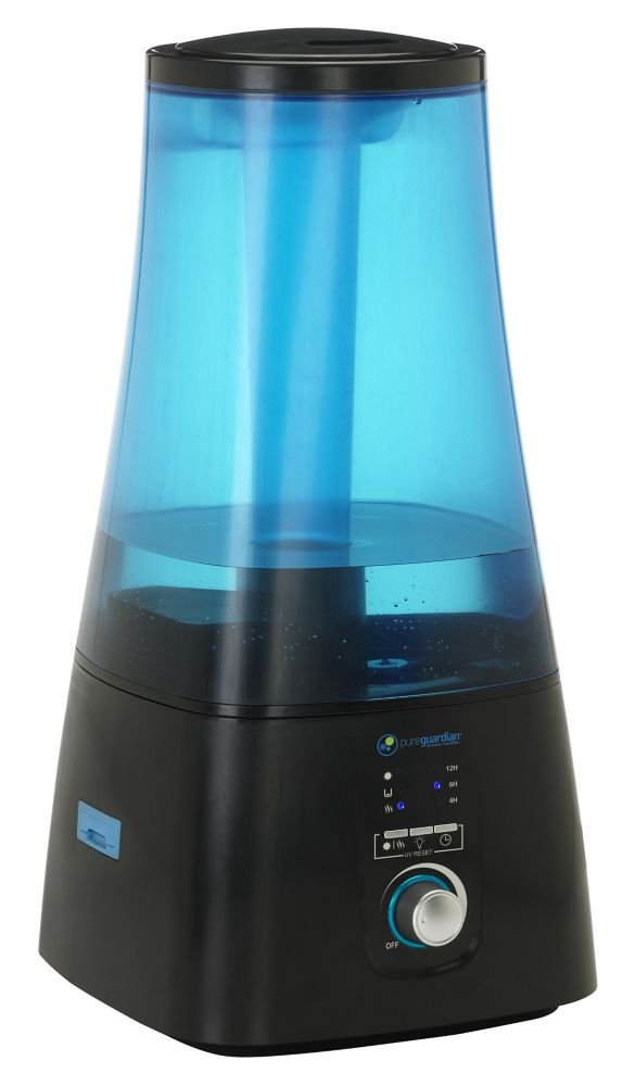 PureGuardian Pureguardian 100-Hr Ultrasonic Humidifier with UV-C & Aromatherapy Tray