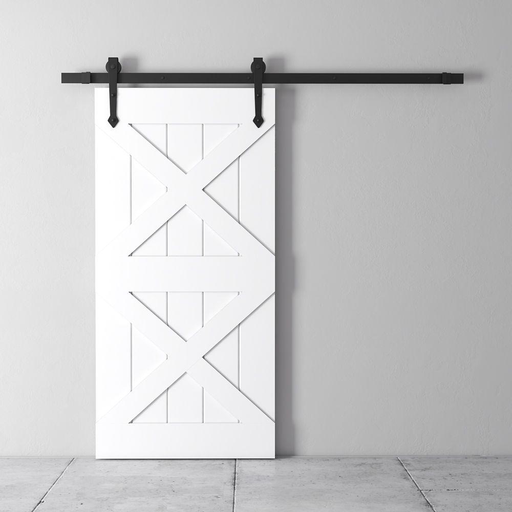 Urban Woodcraft 83x40 Inch Classic White Two X Barn Door