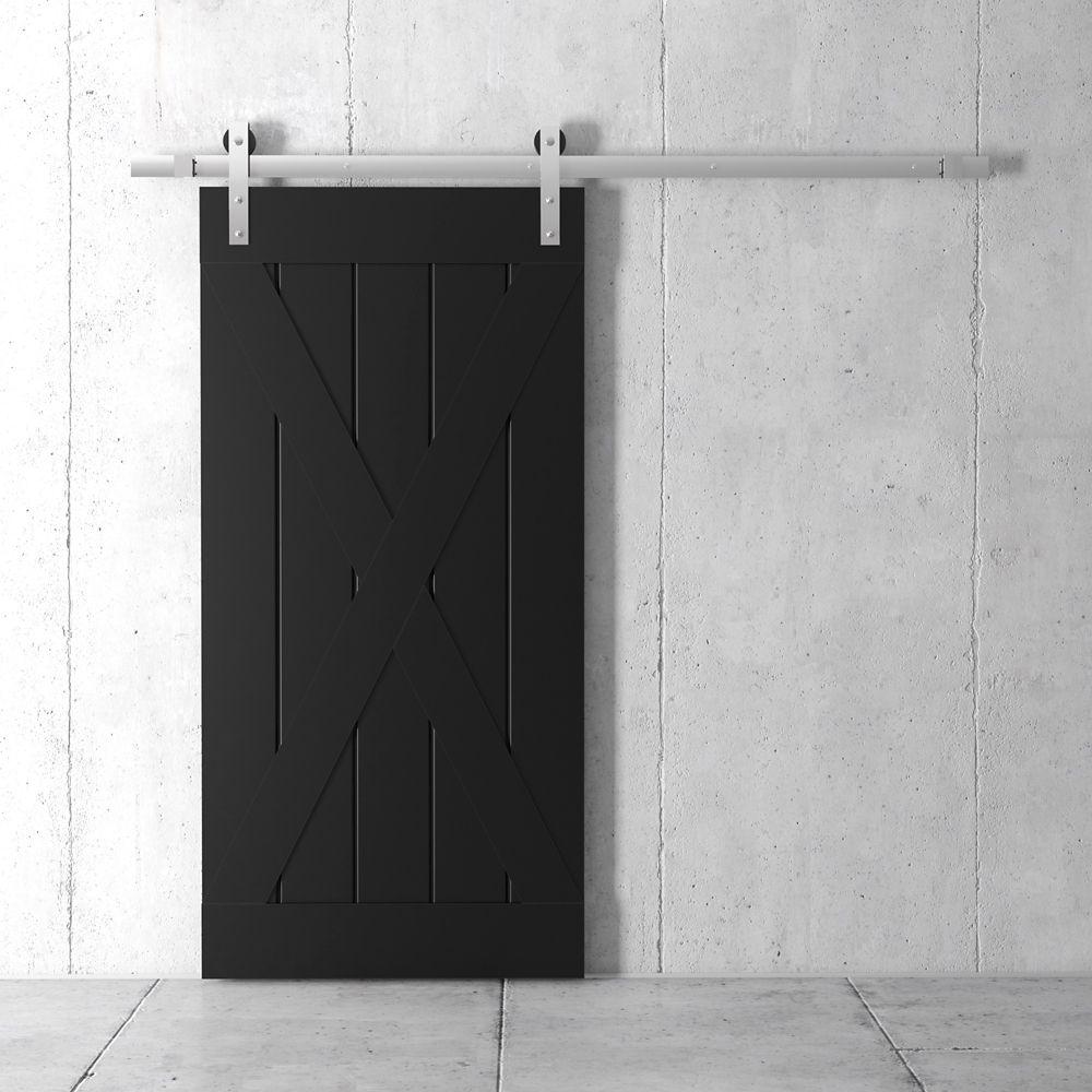 Coulisse Porte De Grange grand x kit de porte de grange 83 x 40 po avec quincaillerie, espresso
