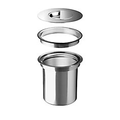 SOLON Stainless Steel Organic Waste System, Flushmount