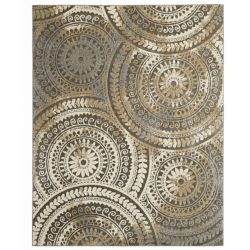 Home Decorators Collection Spiral Medallion Cool Tones Grey 5 ft. 3-inch x 7 ft. 3-inch Indoor Area Rug