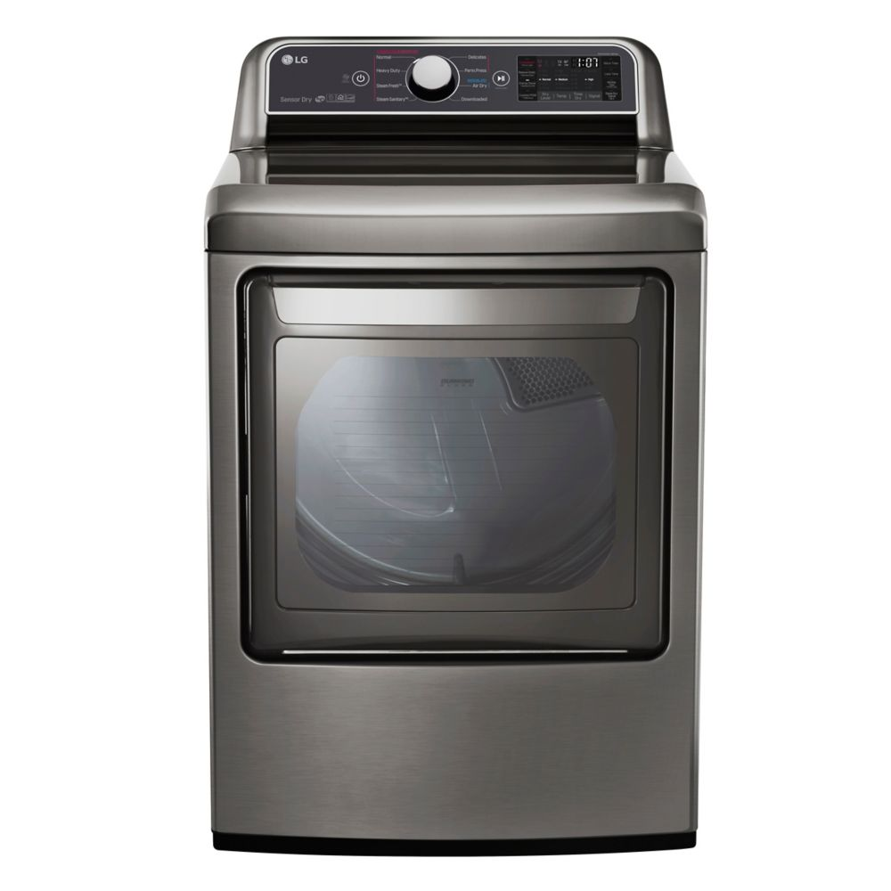 LG Electronics 7.3 cu.ft. Front Load Electric Dryer in Graphite Steel, ENERGY STAR