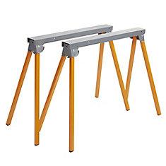 36 inch. Folding Metal Sawhorse (1-Pair)