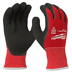 X-Large Red Latex Dipped Cut 1 Resistant Winter Work Gloves