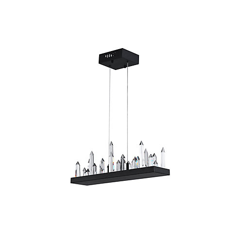34 inch LED Chandelier with Black Finish From our Juliette Collection
