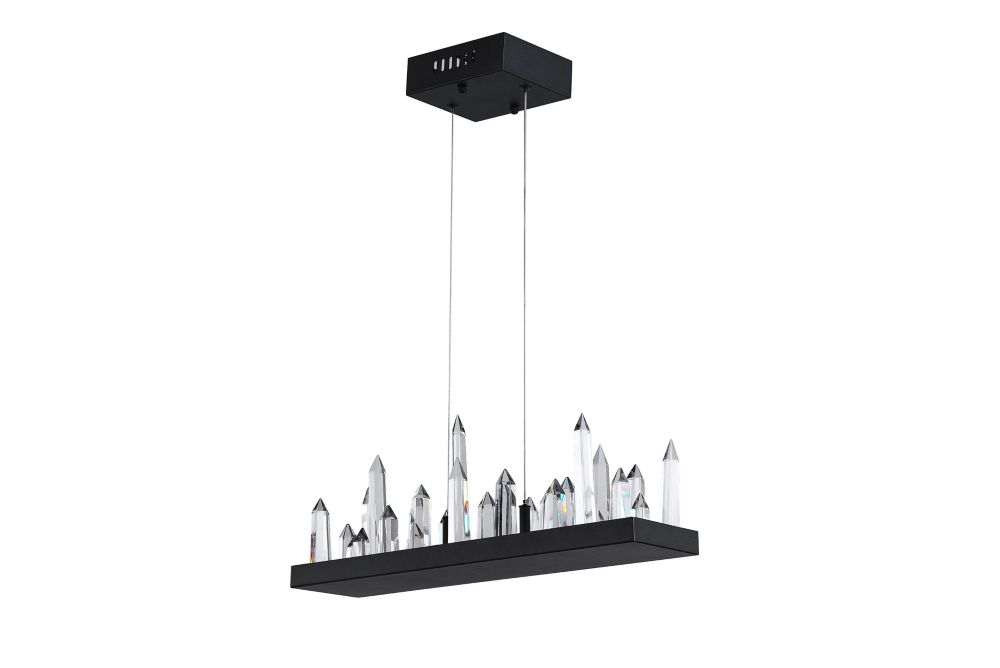 CWI Lighting 34 inch LED Chandelier with Black Finish From our Juliette Collection