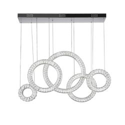 CWI Lighting 43 inch LED Chandelier with Chrome Finish From our Celina Collection