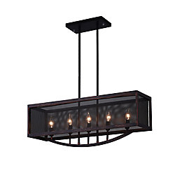 CWI Lighting 28 inch 5 Light Chandelier with Antique Copper Finish From our Calypso Collection