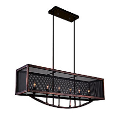 CWI Lighting 35 inch 6 Light Chandelier with Antique Copper Finish From our Calypso Collection