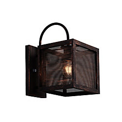CWI Lighting 12 inch 1 Light Wall Sconce with Antique Copper Finish From our Calypso Collection