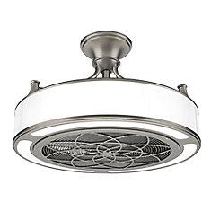 Ventilateur de plafond en nickel brossé intérieur/extérieur à DEL Anderson 22 pouces