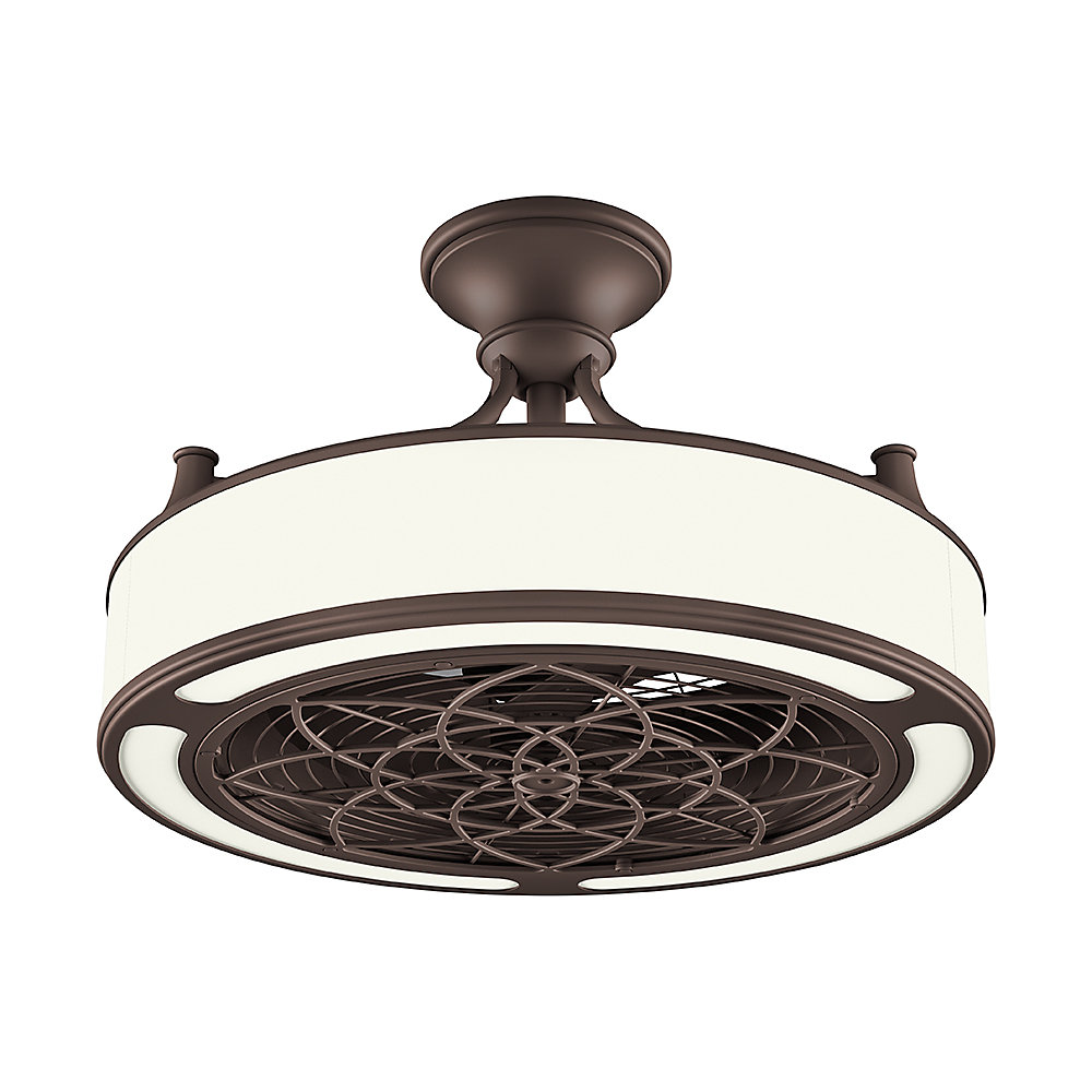 Stile Anderson 22 Inch Led Indoor Outdoor Bronze Ceiling