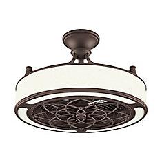 Ventilateur de plafond intérieur/extérieur Anderson 22 pouces à DEL en bronze avec télécommande
